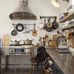 自然素材/無垢材/無垢杉の床/漆喰の壁/白い壁/W断熱の家/... . ~趣味の料理を思いっきり楽しむ  人…