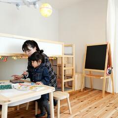 自然素材/無垢材/無垢材の床/おしゃれな家/かっこいい家/D'S STYLE/... . ~ナチュラル素材で統一した  お子様…