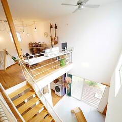 自然素材/無垢材/無垢杉の床/漆喰の壁/白い壁/W断熱の家/... 東京都東村山市の工務店 《土間のあるおし…
