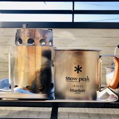 ベランダ飲み/モーニングコーヒー/焚き火/マグカップ おはようございます。久しぶりに良い天気で…