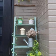 玄関インテリア/リース作り/向日葵 まだまだ湿っぽい梅雨だけど 気持ちを上げ…