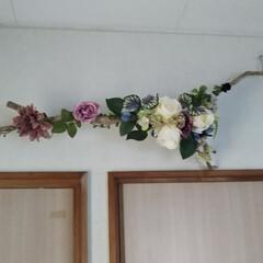造花アレンジ/流木/ダイソー/セリア/雑貨/ハンドメイド/... 流木と造花のアレンジ🎶 今年最後の雑貨作…