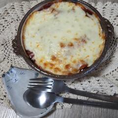 時短レシピ/おうちごはん 今日のお昼ごはん うどんのミートソースチ…(1枚目)