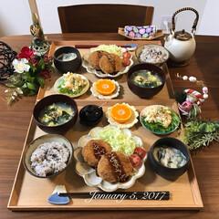 夕飯/和食器/和食/おうちごはん/ふたりごはん/夜ごはん/... いつもそうやけど最近は特に食欲止まらん😫…(1枚目)