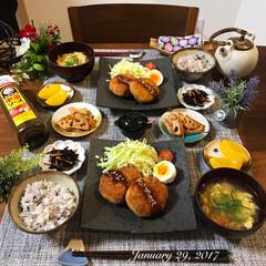 おうちごはん/ふたりごはん/和食器/和食/夕飯/晩ごはん/...  今日の夜ごはんは旦那さんリクエストで …(1枚目)