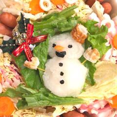 大根おろし/雪だるま/おうち/2018/フォロー大歓迎/クリスマス/... メリークリスマス🎁 昨日は、こってり系で…