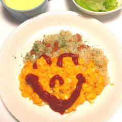 コンソメ/ニコニコ/オムライス/フォロー大歓迎/フード/おうちごはん 今日は、たくさんのニコニコ笑顔をもらって…