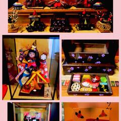 ありがとうございます💕/羽子板/雛人形/ひな祭り/ピンク 今日は、ひな祭り🎎✨ 娘のひな人形🎎等々…