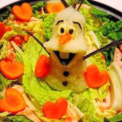 大根おろしアート鍋/オラフ風⛄️/ティファール鍋/キッチン雑貨/雑貨/ハンドメイド/... こんにちは〜😃 今日はとても寒い寒い😵雪…