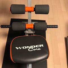 ショップジャパン ワンダーコア オレンジ FN002648 | ショップジャパン(腹筋マシーン、ローラー)を使ったクチコミ「ワンダーコアで筋トレᕦ(ò_óˇ)ᕤ 腹…」