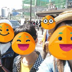 春休み/原宿駅/春のフォト投稿キャンペーン/LIMIAおでかけ部/フォロー大歓迎/おでかけ/... みんなで原宿 いい天気で良かったね☺️