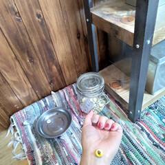 インダストリアル/棚DIY/お皿/お灸入れ/瓶/ストレス発散/... お灸はじめました!(1枚目)