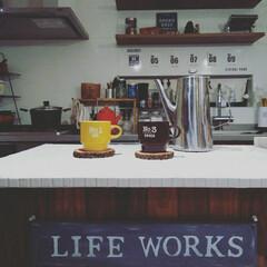 ハーマン/ニトリ/100きん/セリア/キッチン雑貨/カフェ風キッチン/... 賃貸に住んでる頃にアイランドキッチンを夢…