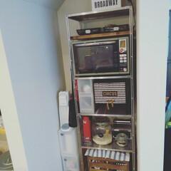 ついでに大掃除/diyer/DIY/100きん/お米収納/スッキリした/... 冷蔵庫を収納していたスペース。同じ広さの…