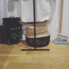 収納/男子/ハンガーラック/ちりとり/ほうき/インテリア/... 我が家は、男どもばかりで、帽子が多いです…