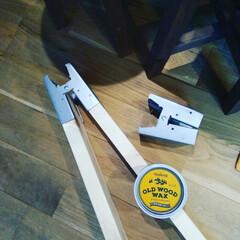 ジャコビーン/ソーホースブラケット/DIY/old wood wax やっと、ワックス届いた!これは、においが…