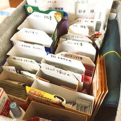 薬箱/はじめてフォト投稿/住まい/収納 家族で使う薬箱を整理しました。 今までは…