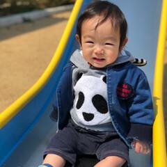 笑顔が宝物/笑顔/1歳/お散歩/春の一枚 この前、天気が良かったときに 公園にお散…
