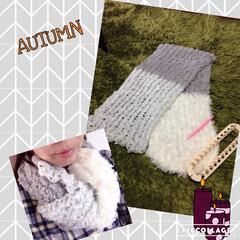 セリア/マフラーメーカー/編み物/100均 セリアのマフラーメーカー❤️編み物ができ…(1枚目)