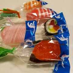キャンディー/お寿司/キャンディ/あめ/甘党大集合 小僧寿しのお鮨🍣飴🍬 リアルにできてる~🎶