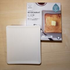 トースト皿/エコカラット エコカラット トースト皿 当たりました🎵…