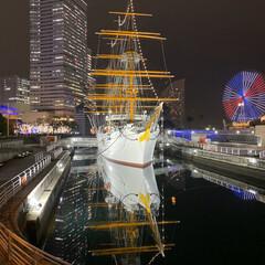 夜景写真/みなとみらい/横浜/フォロー大歓迎 寒くなってきて、夜は空気が澄んで夜景が綺…