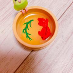 可愛い/インコ/入浴剤/セリア/100均/フォロー大歓迎 インコの玩具が入った入浴剤🎵 2個買って…