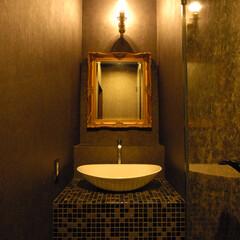 Club garden/クラブ/大和/洗面/タイル/モザイクタイル/... 洗面にはモザイクタイルを使用しました。こ…