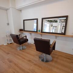 Hair Labo nico/美容室/橋本/カットスペース/鏡 立てかけ鏡のカットスペースです。