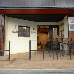 Godzown New Zeala.../ゴッズオウン/NZ/ニュージーランド料理/玉川学園前/エイジング/... 正面壁面にもエイジングを施しました。特注…