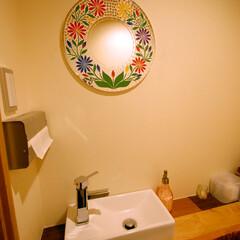 呑々食堂rico!/リコ/川崎/居酒屋/洗面鏡/鏡/... 「メキシコ好きの奥様」を考え、女性洗面に…