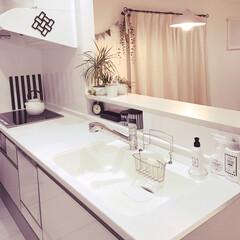 IKEA/北欧インテリア/生活雑貨/キッチン/観葉植物 キッチン☺️物を置かないようにしています✨