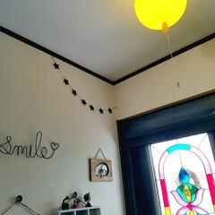 かわいい/黄色/風船型/照明/インテリア/住まい/... 玄関の照明を風船の形のものに変えました♪…