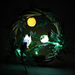 リース/手作り雑貨/アイデア雑貨/生活雑貨/インテリア雑貨/照明 オーナメントが点灯するリースライトです。…