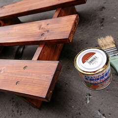木目を残した塗装/ツーバイフォー材/すのこ/プランター これから気温が上がってくるので、プランタ…(4枚目)