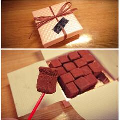 本当はくれた本人が一番食べたいんだよね/生チョコ/本命チョコ/バレンタイン2019 本命チョコ🍫いただきました🤩 生チョコで…