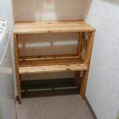 1x4材/BRIWAX/サイズぴったり/収納/脱衣所/DIY/... 年末から作ろうと思っていた脱衣所の棚。 …