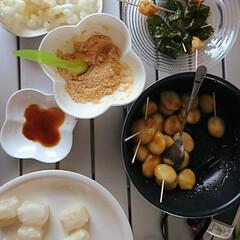 月見/グルメ/おうちごはん 団子&お餅三昧‼️  揚げ・焼き・みたら…