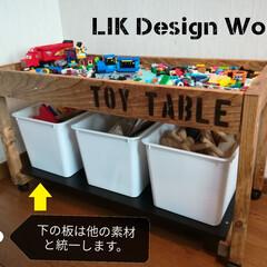 LIK Design Works/L☆DW/子ども/インダストリアル/アンティーク/家具/... 子どものプレイテーブル(トイテーブル)を…