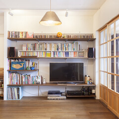 棚 木製の襖とアルミサッシの間はサンルーム