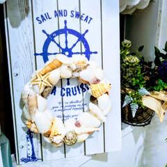 貝殻リース/LIMIAファンクラブ/雑貨/LIMIA手作りし隊/ハンドメイド/雑貨だいすき ジメジメ しとしとな毎日 カラット晴れた…