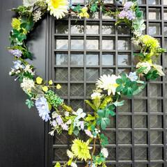 ハンドメイド/雑貨/春の一枚 春バージョンリース完成❕野の花のような小…