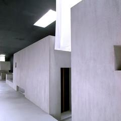 建築/建築家/住宅/空間/床の間/フリースペース/... 広い回廊から床を見る