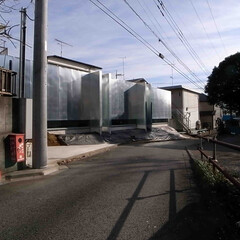 建築/建築家/住宅/新築/金属/亜鉛メッキ鋼板/... 北西側からの遠景