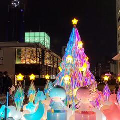 フォロー大歓迎/リミとも部/キキララ/クリスマス/クリスマスツリー/新宿/... 娘が送ってきた写メ新宿のイルミネーション…