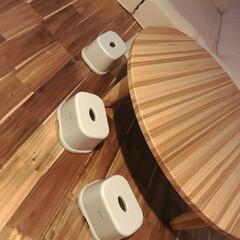 IKEA/リビング/風呂椅子/座卓/100均/イケア/... 子供の座卓用の椅子をずっと探しててたどり…