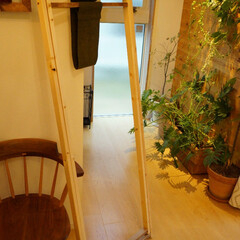 物干し/部屋干し用 DIYした部屋干し用のX型物干しです。閉…