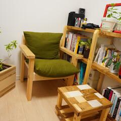 イス/本棚/サイドテーブル/鉢カバー DIYしたイス、本棚、サイドテーブル、鉢…