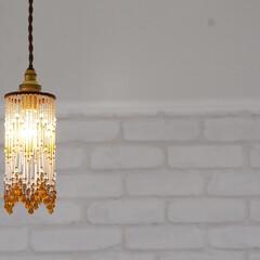 ライト/照明 雑貨屋やカフェ風な空間になるように照明に…