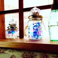 虫除け/涼しい/キラキラ/夏/リメイク 空き瓶で虫除け効果のあるルームフレグラン…